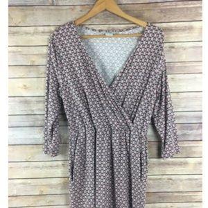 Boden Cressida Fixed Wrap Dress Petite Long Sleeve